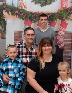 My Sister and Brother-in-Law, Joanne and Mike, and their kids Brandon, Peyton, and Jordan, Dec. 2016