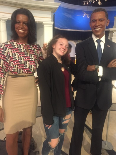 "Caitlyn with her ""real parents"", the Obamas."