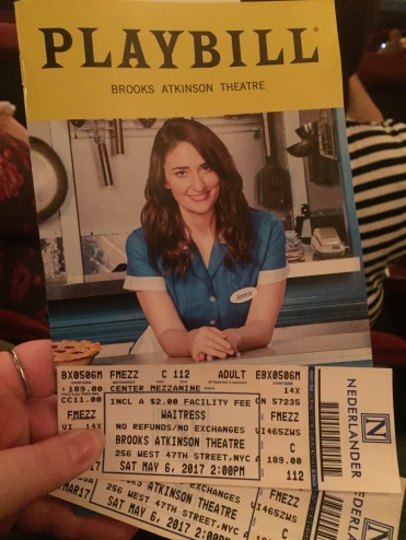 Basic photo of my playbill and ticket. (I was really excited.)