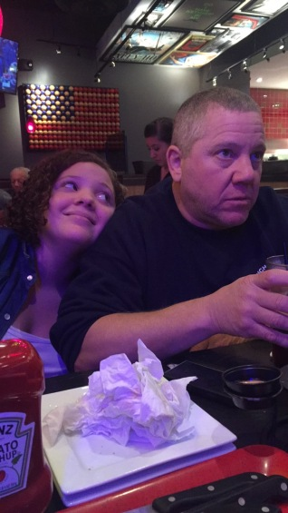 Cait and Dad in Red Robin