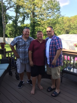 Dad, Heinrich, and Rick at Riley's Baptism Party