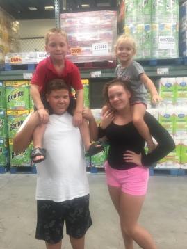 Heinrich, Peyton, Caitlyn, and Jordan August 2017