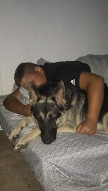 Sleeping with Luna